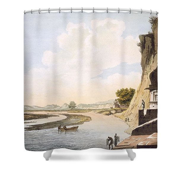 Pl. 26 A View Of The Gaut At Etawa Shower Curtain