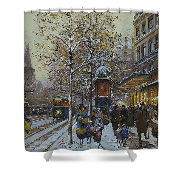 Place De La Republique Paris Shower Curtain