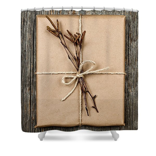 Plain Gift With Natural Decorations Shower Curtain