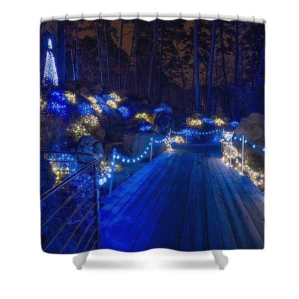 Plank Bridge - Panoramic Shower Curtain