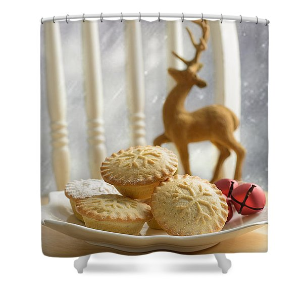 Plate Of Mince Pies Shower Curtain