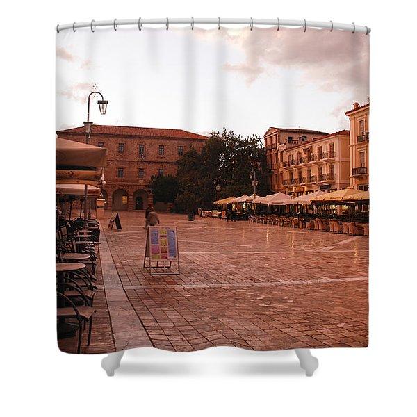 Plateia Syntagmatos Shower Curtain
