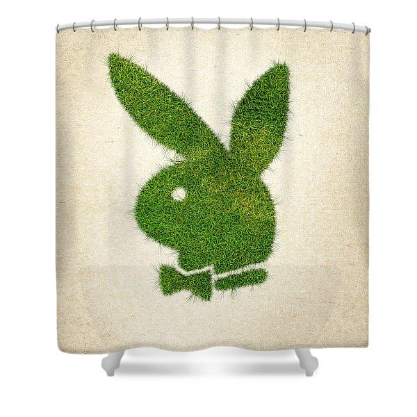 Playboy Grass Logo Shower Curtain