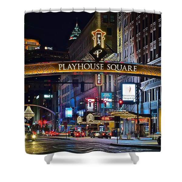 Playhouse Square Shower Curtain