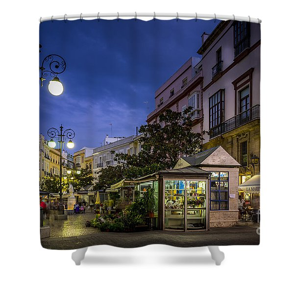 Plaza De Las Flores Cadiz Spain Shower Curtain