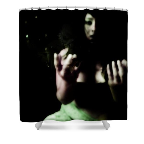 Pleading Shower Curtain