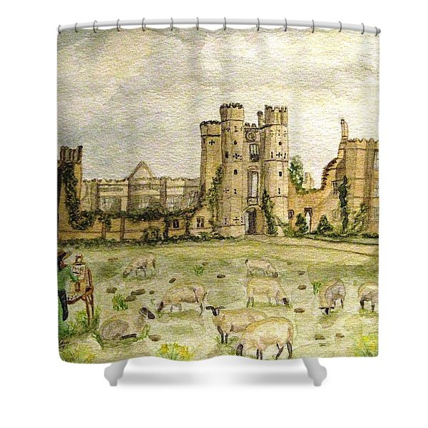Plein Air Painting At Cowdray House Sussex Shower Curtain
