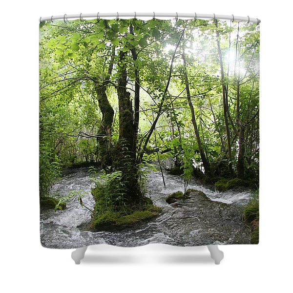 Plitvice Lakes Shower Curtain