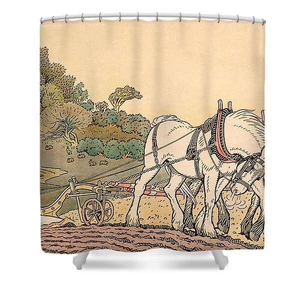 Plowing Shower Curtain