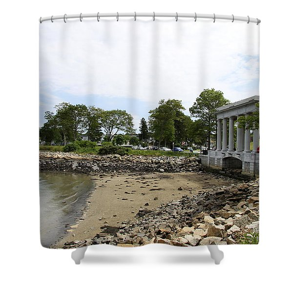 Plymouth Rock Monument Shower Curtain