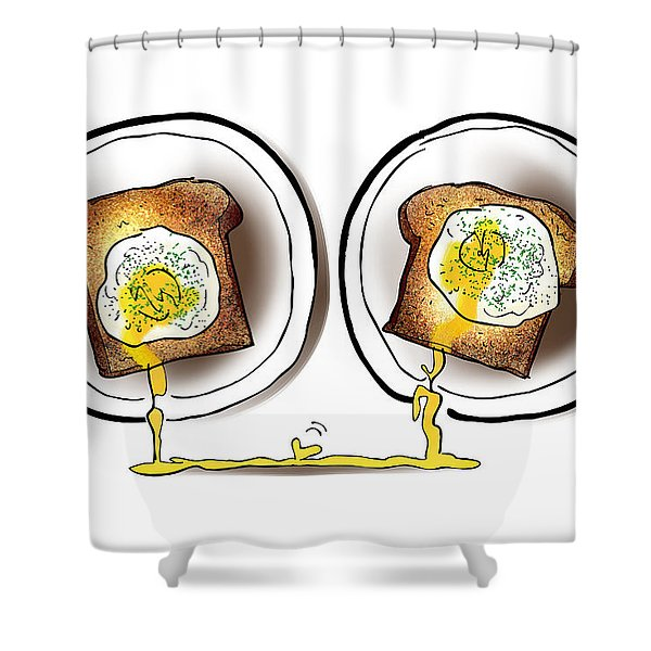 Poached Egg Love Shower Curtain