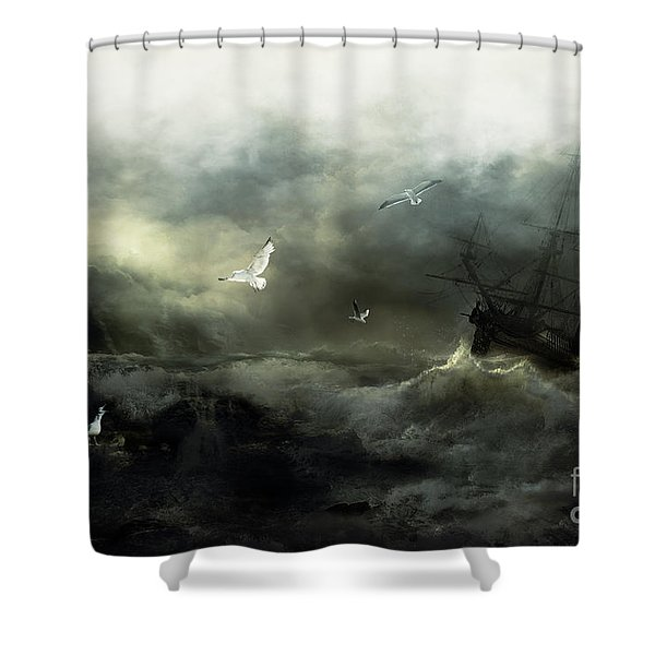 Point Danger Shower Curtain