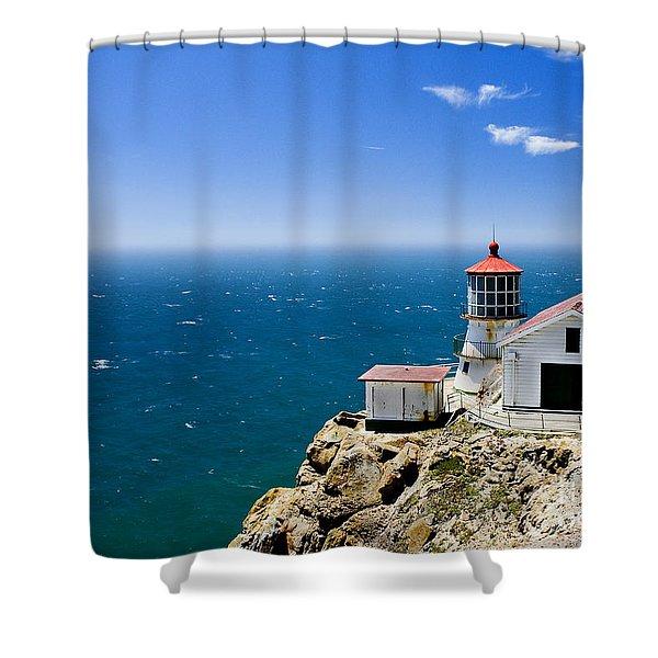 Point Reyes Lighthouse California Shower Curtain