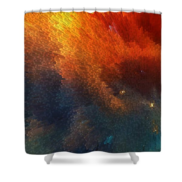 Points Of Light Abstract Art By Sharon Cummings Shower Curtain