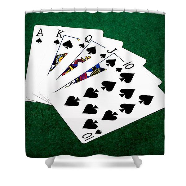 Poker Hands - Royal Flush 4 V.2 Shower Curtain