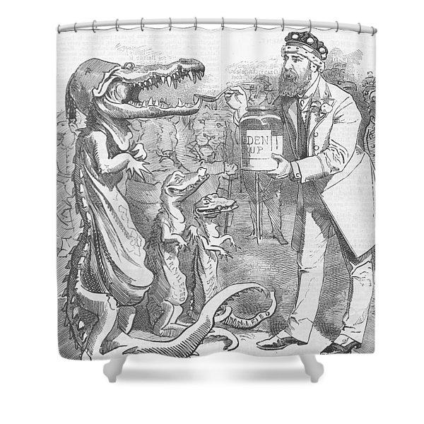 Political Crocodile Shower Curtain