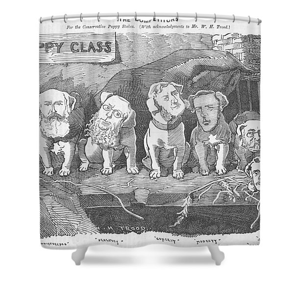 Political Puppy Class Shower Curtain