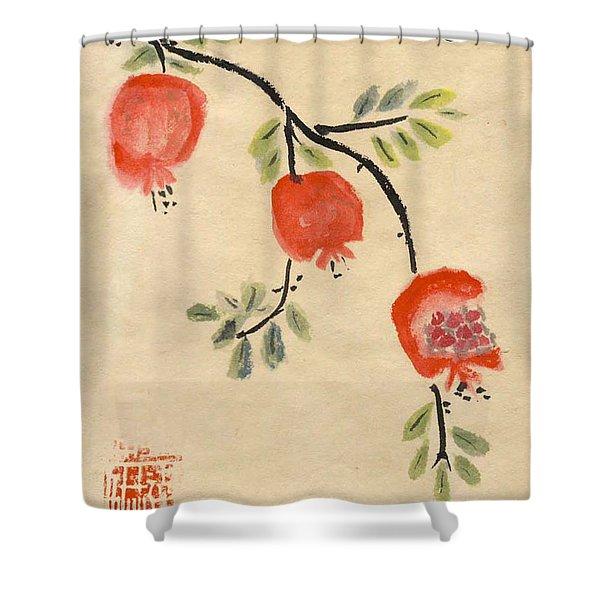 Pomegranates For Rosh Hashanah Shower Curtain