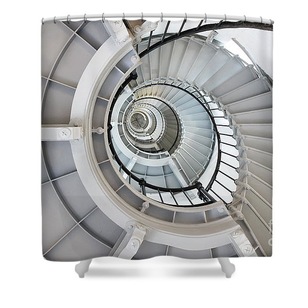Ponce De Leon Inlet Lighthouse Staircase Shower Curtain