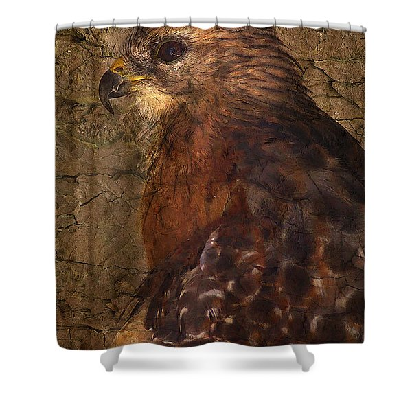 Ponce Inlet Hawk Shower Curtain