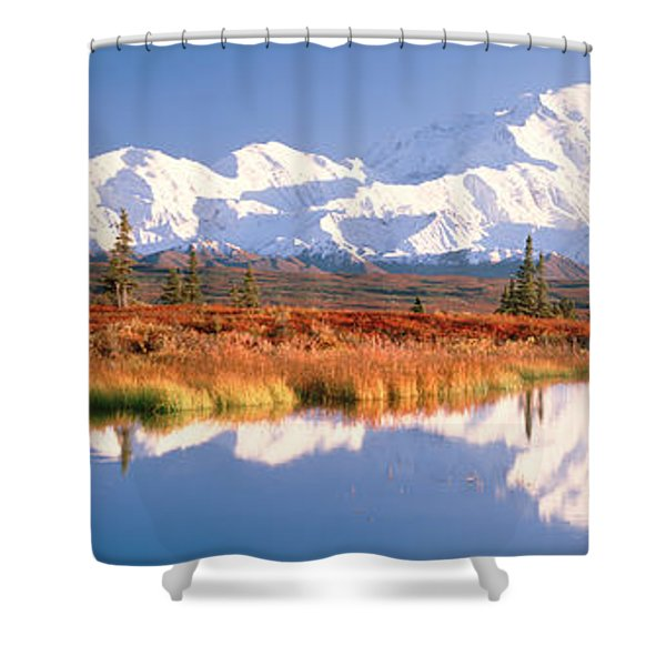 Pond, Alaska Range, Denali National Shower Curtain