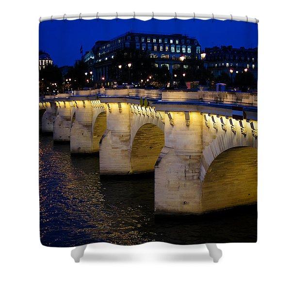 Pont Neuf Bridge - Paris - France Shower Curtain