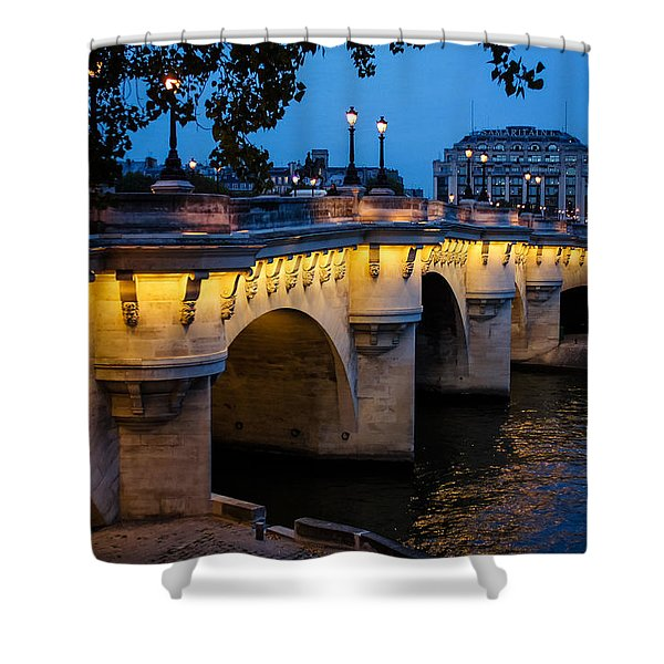 Pont Neuf Bridge - Paris France Shower Curtain