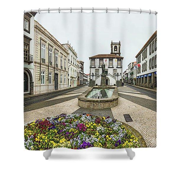 Ponta Delgada City Hall, Sao Miguel Shower Curtain