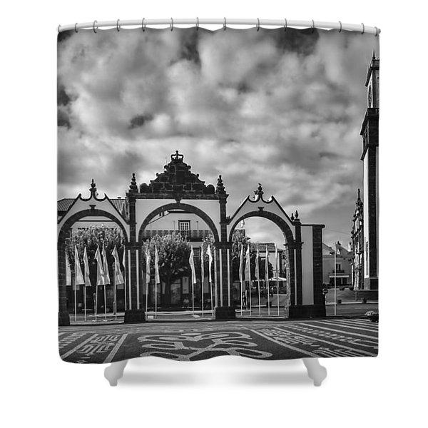 Ponta Delgada Gates Shower Curtain