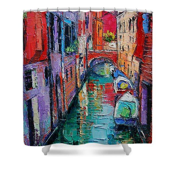 Ponte Raspi O Sansoni - Venice - Italy Shower Curtain
