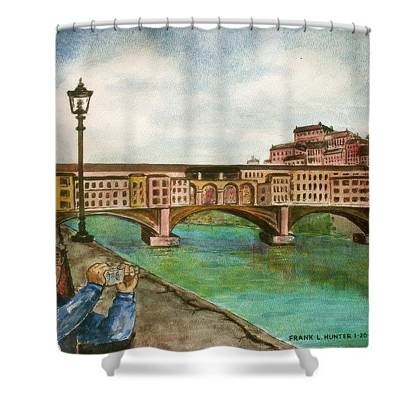 Ponte Vecchio Florence Italy Shower Curtain