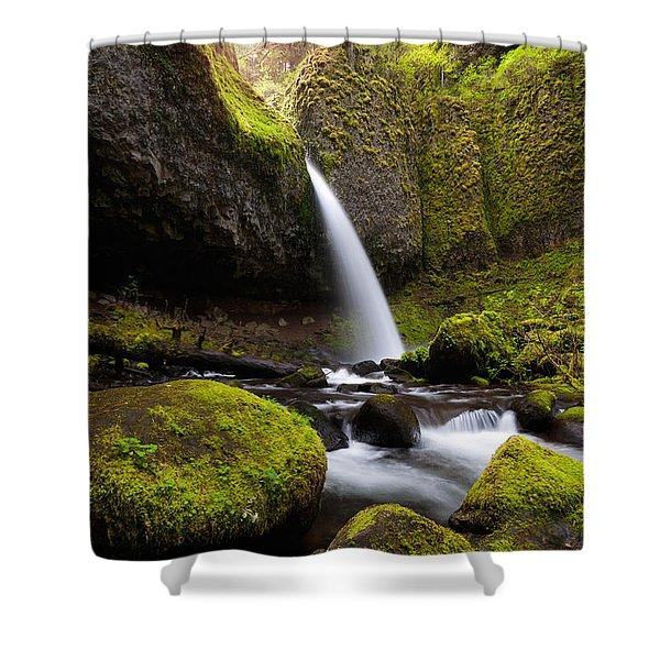 Ponytail Falls Shower Curtain