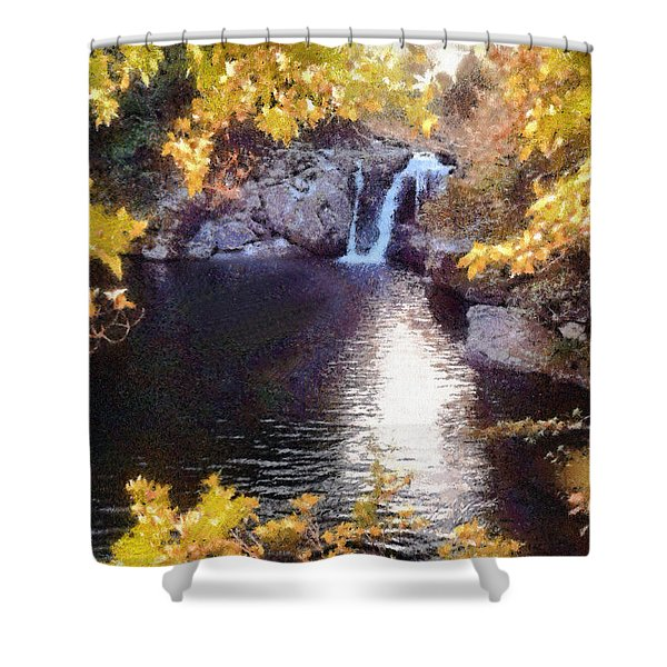 Pool And Falls Shower Curtain