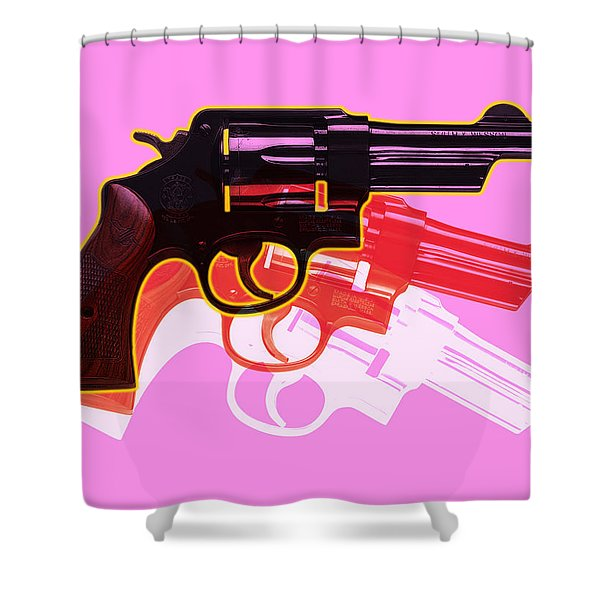 Pop Handgun Shower Curtain