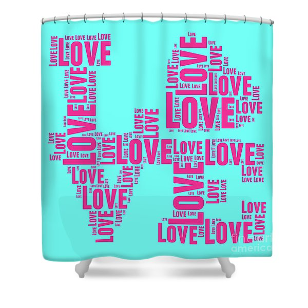Pop Love 1 Shower Curtain