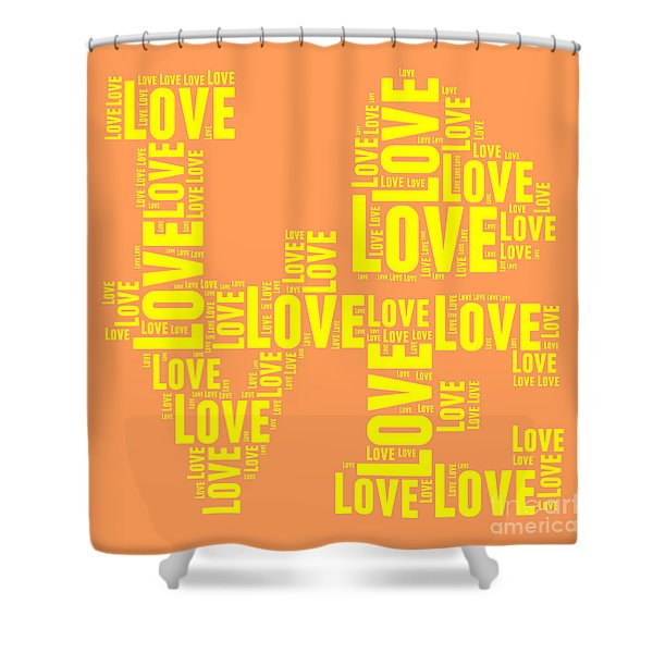 Pop Love 3 Shower Curtain