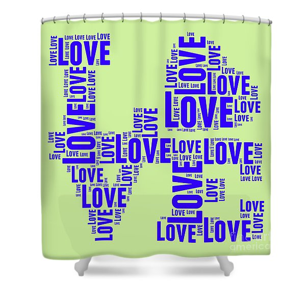 Pop Love 5 Shower Curtain