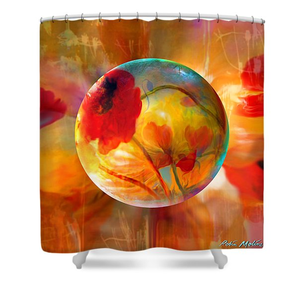 Pop Twombly Shower Curtain