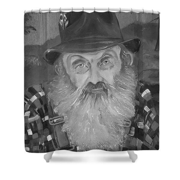 Popcorn Sutton - Jam - Moonshine Shower Curtain