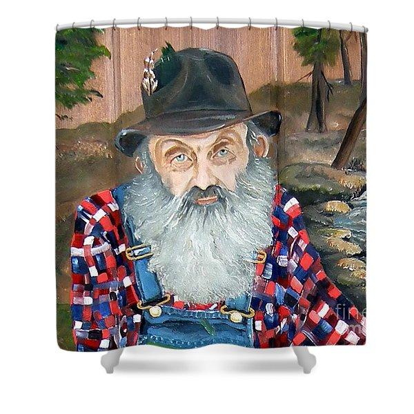 Popcorn Sutton - Moonshine Legend - Landscape View Shower Curtain