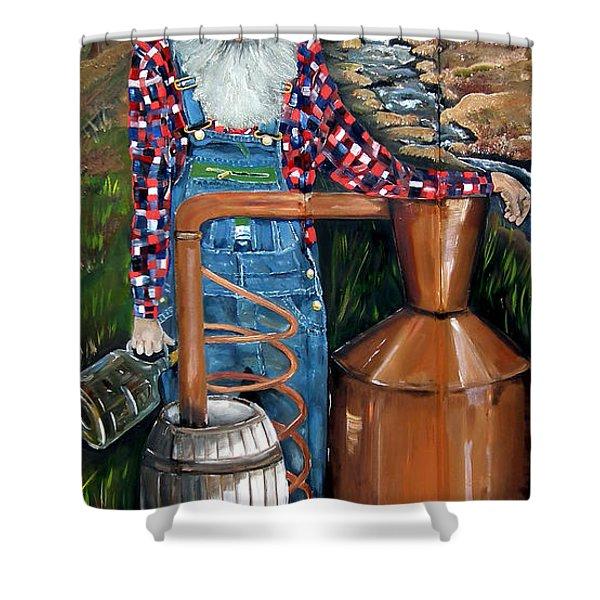 Popcorn Sutton - Moonshiner - Redneck Shower Curtain