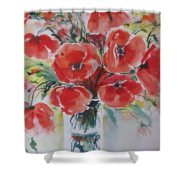 Poppies Iv Shower Curtain