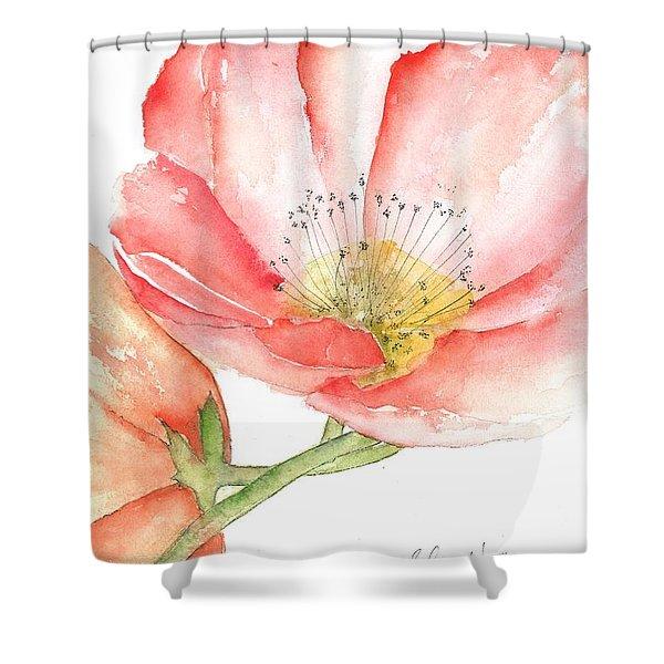 Poppy Bloom Shower Curtain