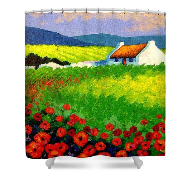 Poppy Field - Ireland Shower Curtain