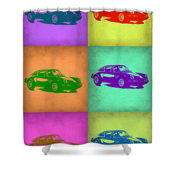 Porsche 911 Pop Art 2 Shower Curtain