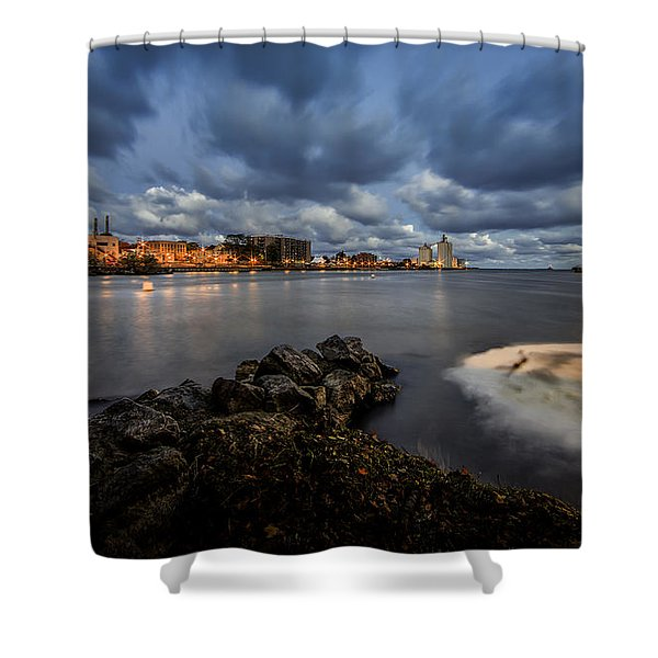 Port Of Oswego Shower Curtain