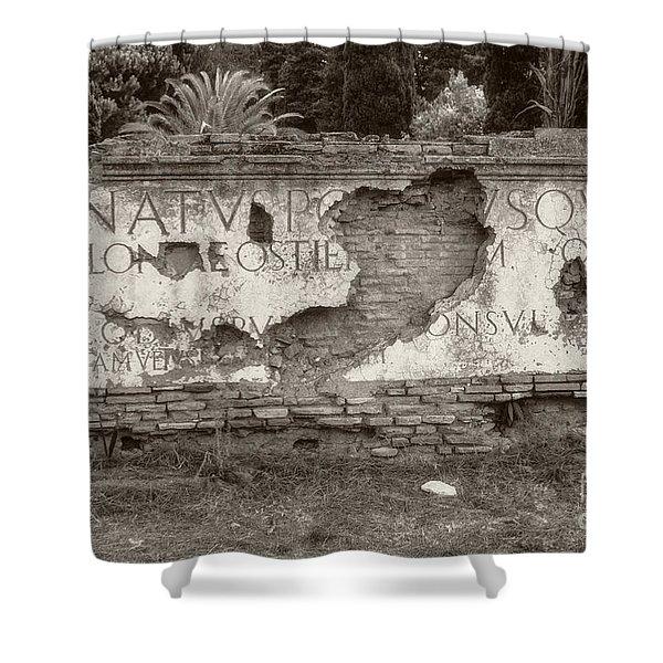 Porta Romana In Sepia Shower Curtain