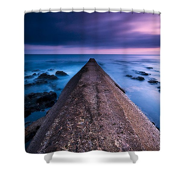 Porthleven Sunset Shower Curtain