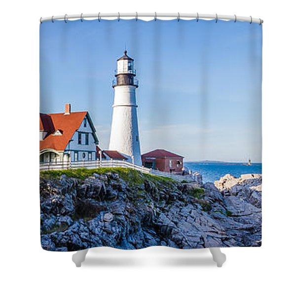 Portland Head Light House Cape Elizabeth Maine Shower Curtain