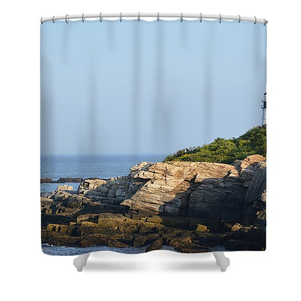 Portland Head Light In Summer Shower Curtain
